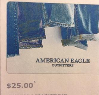 $25 American Eagle gift card