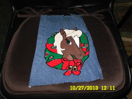 Handmade Christmas Horse patch/applique