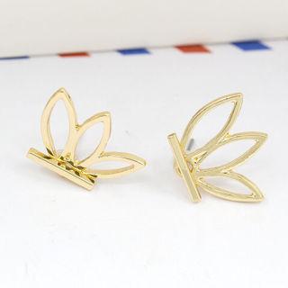 1Pair Sweet Lotus Flower Ear Jacket Stud Earring Fashion Jewelry Gifts