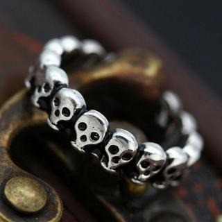 Fashion Women Men Vintage Gothic Punk Skull Ring Cool Men's Band Rings Jewelry