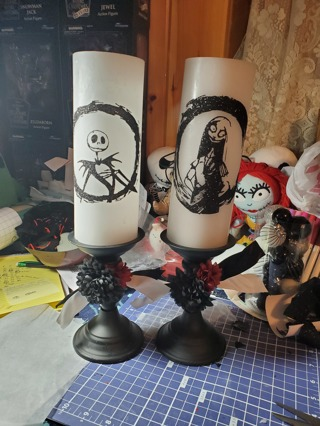 Jack and Sally Candles