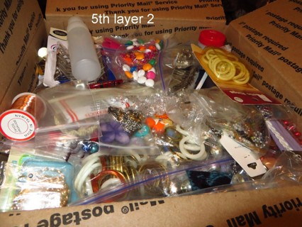 Large Flat Rate Box~Summer Crafting~Dress-up-Necklaces~Euro Beads~Sterling Ring~Beads~More!~Destash!