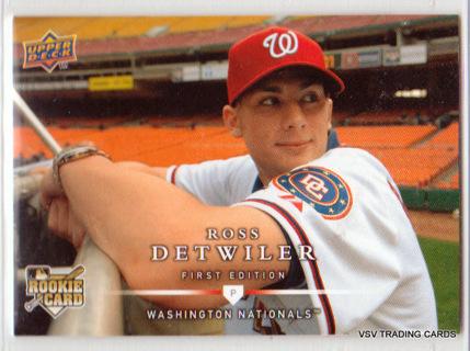 Ross Detwiler, 2008 Upper Deck ROOKIE Card #263, Washington Nationals