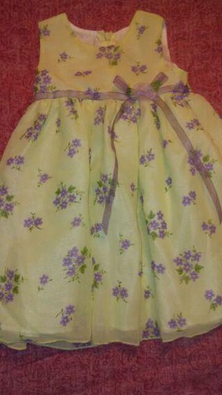 Beautiful Yellow Dress by Goodlad Size 18 mo.