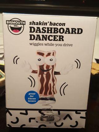 """""""Shakin' Bacon"""" dashboard dancer"""