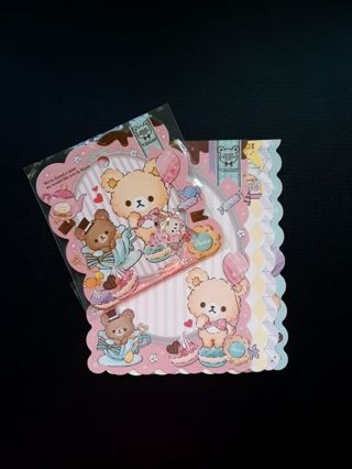 "Q-Lia ""Creamy Chocolate Pot"" Sticker Sack & *8* LG Matched Memo Sheets *Only One!!* ☆Kawaii Bonus☆"