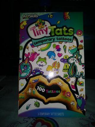 "⚛✨⚛✨⚛BRAND NEW SET OF ART SKILLS® ""TINY TATS"" TEMPORARY TATTOO SET⚛✨⚛✨⚛OVER 100 TATTOOS!"