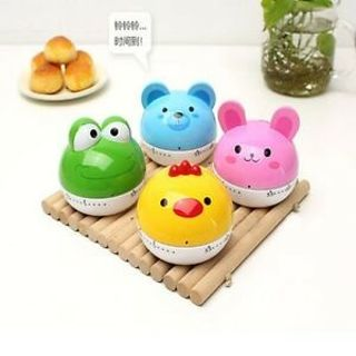 Cute Animal Timer Cartoon Kitchen Timer Mechanical Alarm Clock Reminder