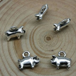 20PCs Jewelry Making DIY Cute Little Pig
