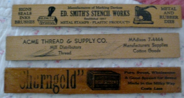 Still ANOTHER lot of vintage wood rulers!