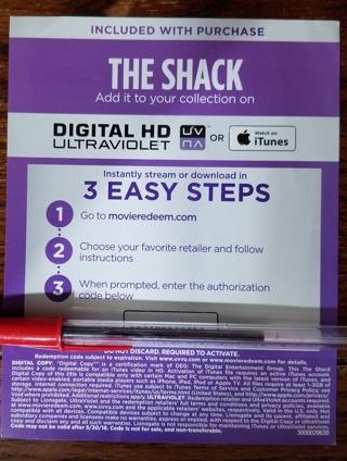 NEW - The Shack Digi Code