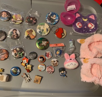 Kawaii Anime Mixed Pin Toy Lot