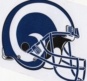 2017 NFL 4x3 Team Helmet Sticker: Los Angeles Rams