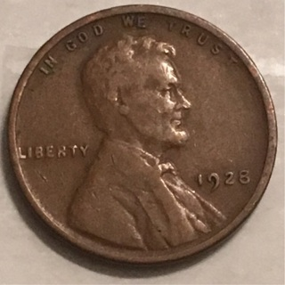 1928 wheat cent