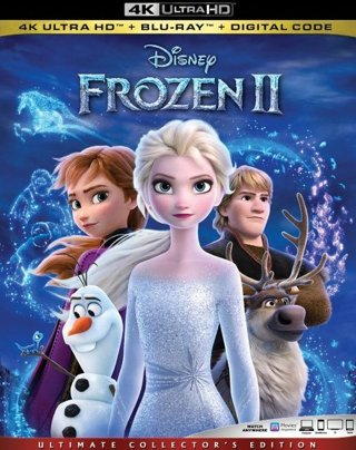 Frozen 2 4k + Blu-ray + Digital Code Ultimate Collectors Edition