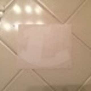 White rocking L decal, About 3 x 4