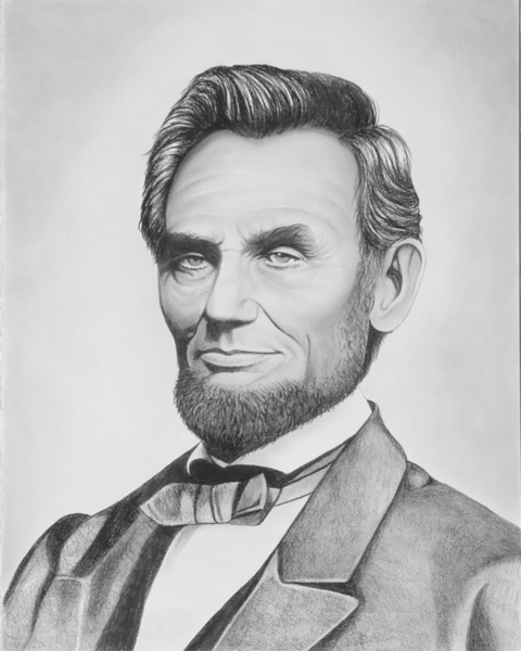 Free: Abraham Lincoln Drawing Print - Other Art - Listia ...