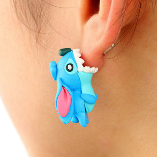 2 Pairs Women Earring 3D Stitch