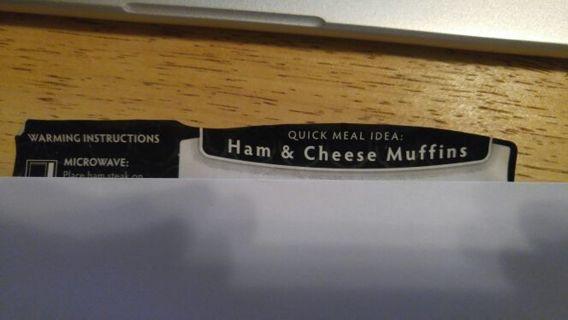 Ham & Cheese Muffins Recipe #1
