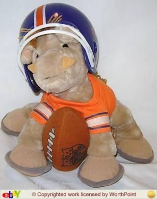 Free 1983 Nfl Huddles Denver Broncos Plush Horse W Helmet Dolls