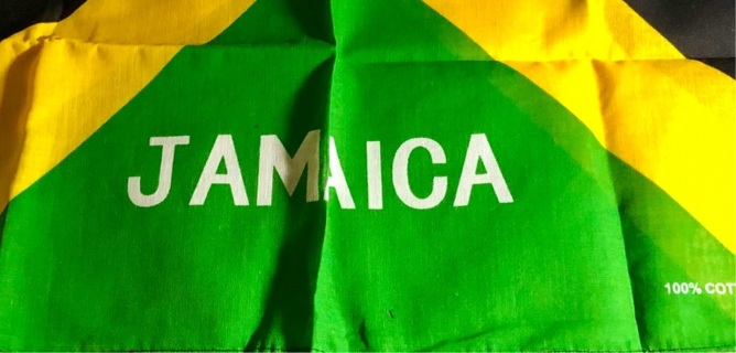 "Brand New: Beautiful 20"" x 22"" Super Soft, Jamaica Fashion Bandana! 100% Cotton"