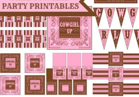 Free Cowgirl Birthday Party Printables Decorations