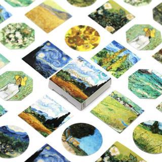 45 Pcs/Pack Kawaii Cute Van Gogh Oil Painting Pattern Decoracion Journal Stickers Scrapbooking Sta