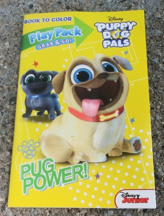 DISNEY PUPPY DOG PALS PUG POWER SMALL COLORING AND ACTIVITY BOOK WITH STICKERS USE YOUR OWN CRAYONS