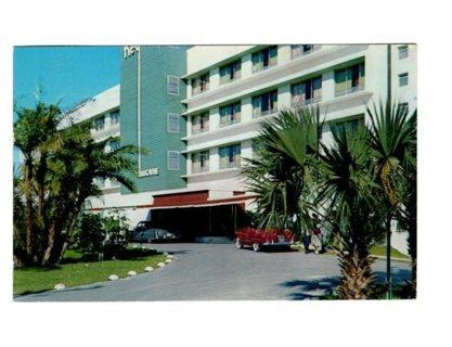 Vintage Used Postcard: 1953 Key Biscayne Hotel & Villa, Miami, FL