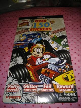 "⚛✨⚛✨⚛BRAND NEW ""MICKEY AND THE ROADSTER RACERS"" STICKER BOOK⚛✨⚛✨⚛OVER 150 STICKERS!"
