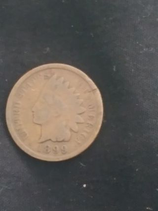 1899 Indian One Cent Wheat Penny..