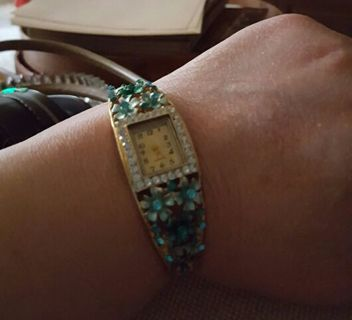 Women's Luxury Quartz Watch 18K Rose gold filled Opal Austrian Crystal Watch