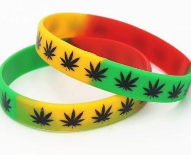 1 Cannabis Leaf Wristband Bracelet Pot Plant Marijuana Jewelry weed ganja