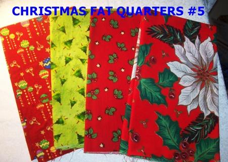 4 CHRISTMAS FAT QUARTERS #5