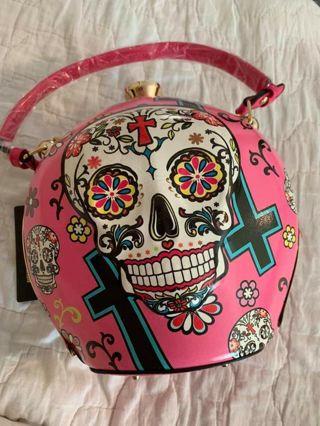 Nwt Amazing sugar skull domed bucket purse