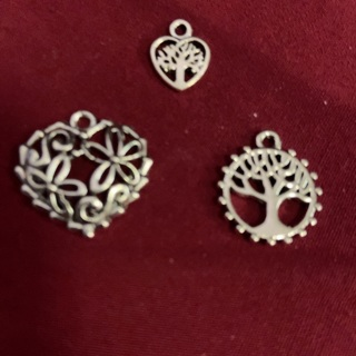 Three zink Alloy Antique Silver Charms.#12