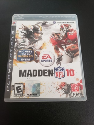 Madden 2010 PS3 game