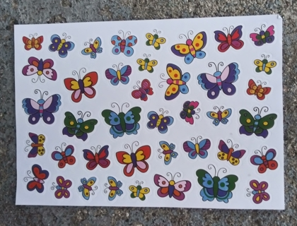 BUTTERFLY STICKERS 5 SHEETS