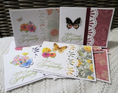 Handmadea Sympathy Cards, Listed By Request, Set of 10