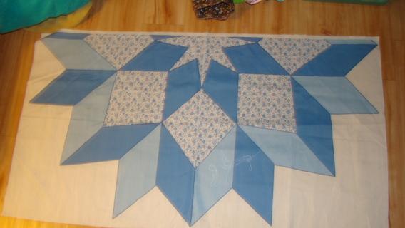 vintage cheater cotton quilt top
