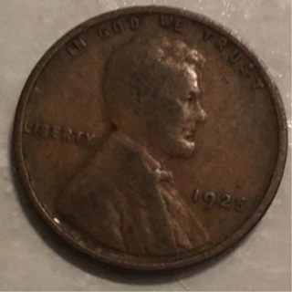1925 wheat cent