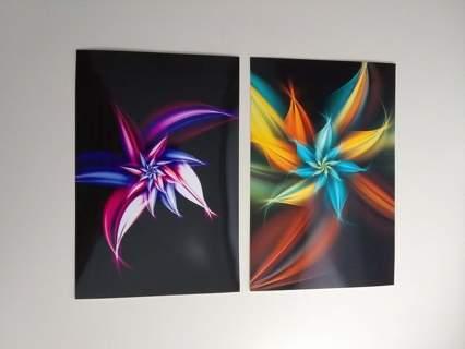 ▨▨ Set of 2 Prints ▨▨ Fractal Artwork by Stan Ragets
