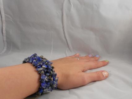 Blue Sodalite Gemstone Stretch Bracelet