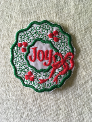 1NEW CHRISTMAS SEW ON APPLIQUE