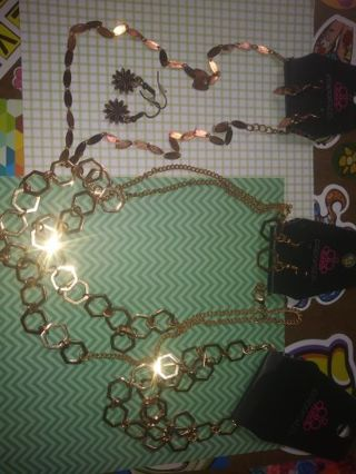 ❇Jewelry Lot❇ Bronze and Gold -Earrings ,Bracket Necklaces and more Read Description