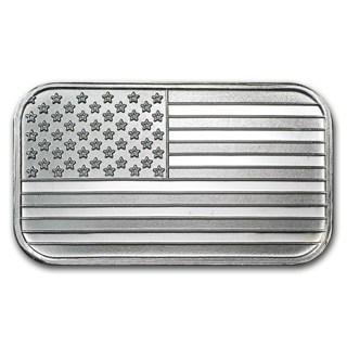 3 American Flag Silver Bar ( 1 gram bar)