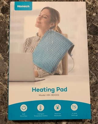 """Homech Electric Heating Pad with Moist & Dry Heat Therapy Auto Shut Off - Large [12""""x24""""]"""