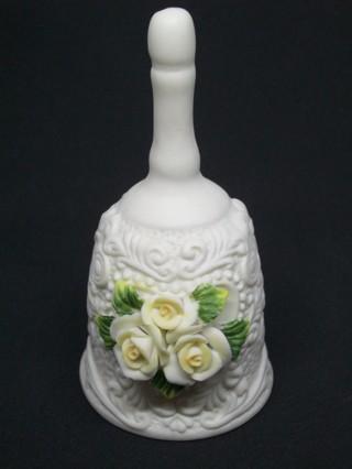 White Porcelain Decorative Bell - Cornerstone Creations