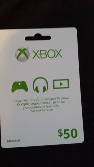Free 50 Xbox Live Gift Card Video Game Prepaid Cards Codes
