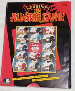 Pittsburgh Pirates 1994 All Star Game Official program